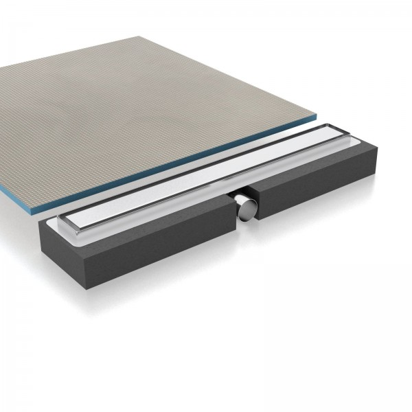Duschelement Duschboard Edelstahlduschrinne mit Hartschaumträger-Element